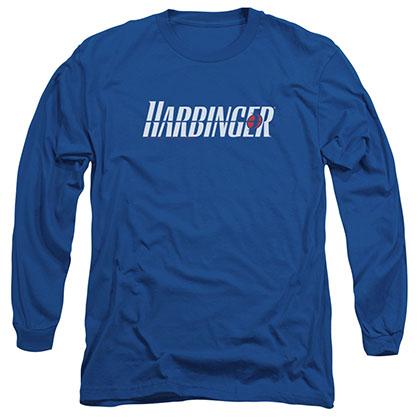 Harbinger Logo Blue Long Sleeve T-Shirt