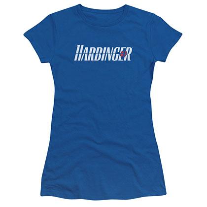 Harbinger Logo Blue Juniors T-Shirt
