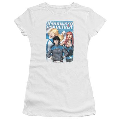 Harbinger Gals White Juniors T-Shirt