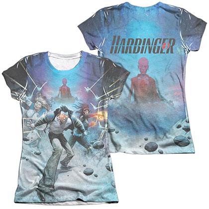 Harbinger Eyes  White 2-Sided Juniors Sublimation T-Shirt