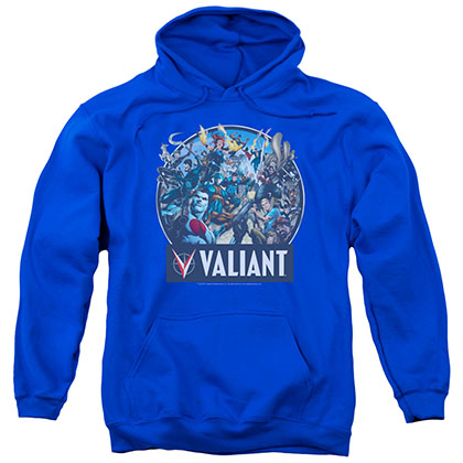 Valiant Ready For Action Blue Pullover Hoodie