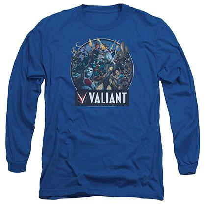 Valiant Ready For Action Blue Long Sleeve T-Shirt