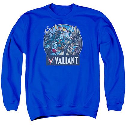 Valiant Ready For Action Blue Crew Neck Sweatshirt
