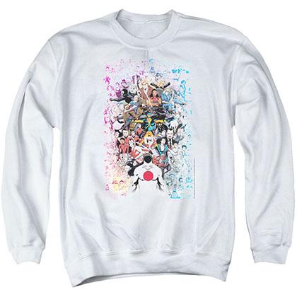 Valiant Everybodys Here White Crew Neck Sweatshirt