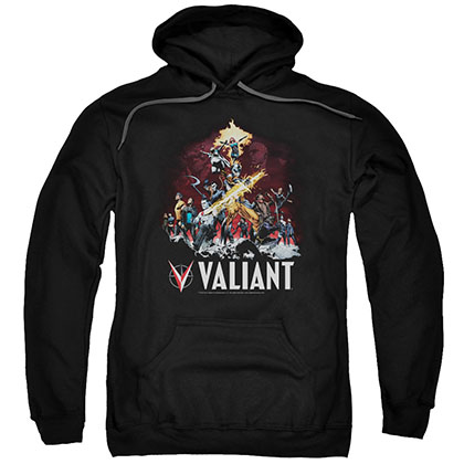 Valiant Fire It Up Black Pullover Hoodie
