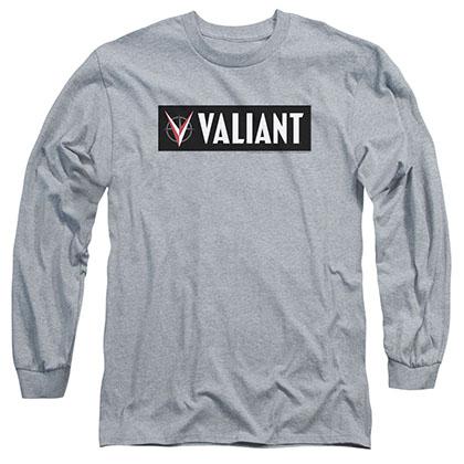 Valiant Horizontal Logo Gray Long Sleeve T-Shirt