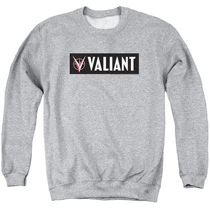 Valiant Horizontal Logo Gray Crew Neck Sweatshirt