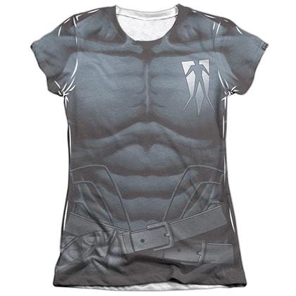 Shadowman Uniform White Juniors Sublimation T-Shirt