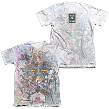 Valiant All Accounted For  White 2-Sided Sublimation T-Shirt