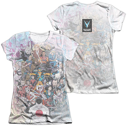 Valiant All Accounted For  White 2-Sided Juniors Sublimation T-Shirt