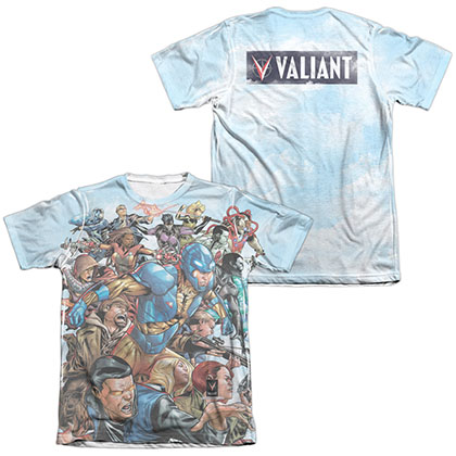 Valiant Coming At You  White 2-Sided Sublimation T-Shirt