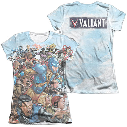 Valiant Coming At You  White 2-Sided Juniors Sublimation T-Shirt