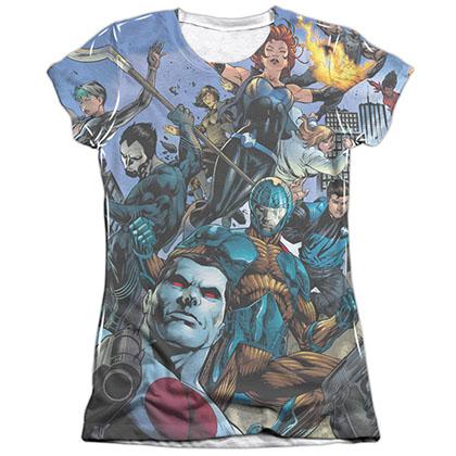 Valiant Universe White Juniors Sublimation T-Shirt