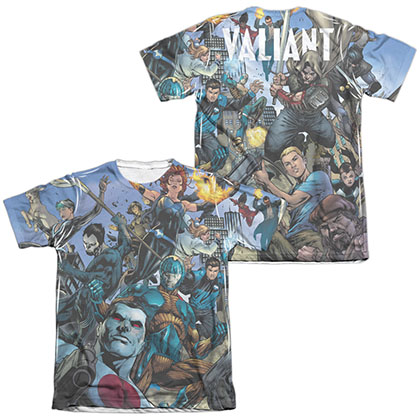 Valiant Universe  White 2-Sided Sublimation T-Shirt