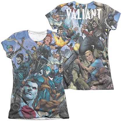 Valiant Universe  White 2-Sided Juniors Sublimation T-Shirt