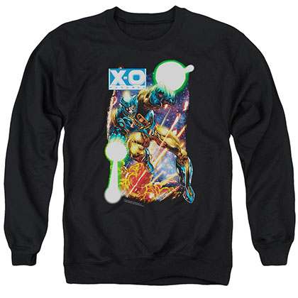 Xo Manowar Vintage Xo Black Crew Neck Sweatshirt