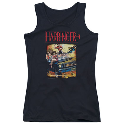Harbinger Vintage Harbinger Black Juniors Tank Top