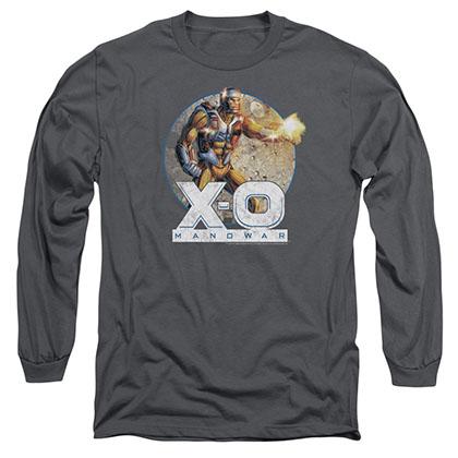 Xo Manowar Vintage Manowar Gray Long Sleeve T-Shirt