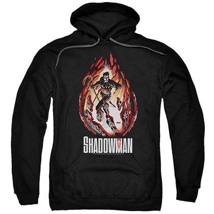 Shadowman Burst Black Pullover Hoodie