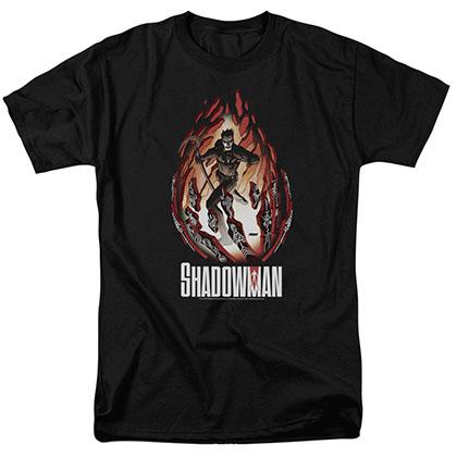 Shadowman Burst Black T-Shirt