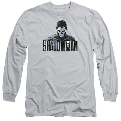 Shadowman Shadow Stare Gray Long Sleeve T-Shirt