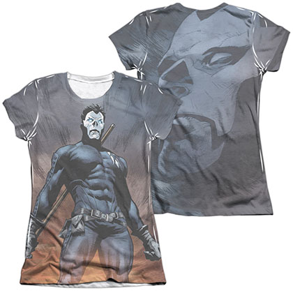 Shadowman Stand Tall  White 2-Sided Juniors Sublimation T-Shirt