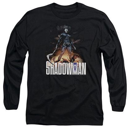 Shadowman Shadow Victory Black Long Sleeve T-Shirt