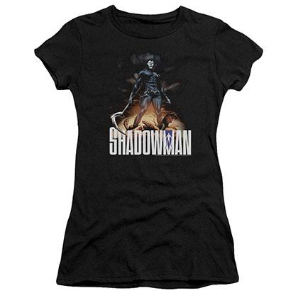 Shadowman Shadow Victory Black Juniors T-Shirt