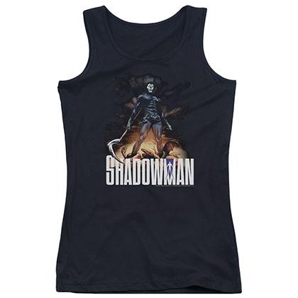 Shadowman Shadow Victory Black Juniors Tank Top
