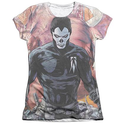 Shadowman Beast White Juniors Sublimation T-Shirt