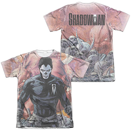 Shadowman Beast  White 2-Sided Sublimation T-Shirt