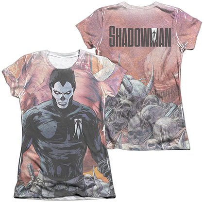 Shadowman Beast  White 2-Sided Juniors Sublimation T-Shirt