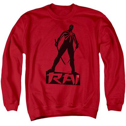 Rai Silhouette Red Crew Neck Sweatshirt
