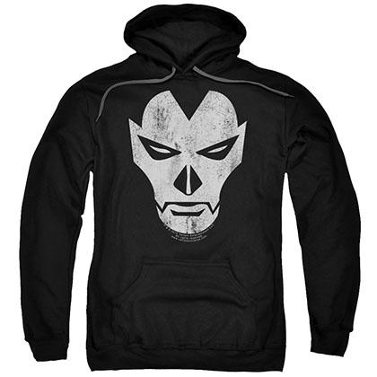 Shadowman Face Black Pullover Hoodie