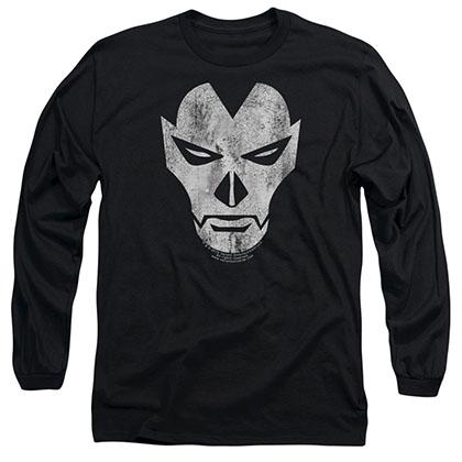 Shadowman Face Black Long Sleeve T-Shirt