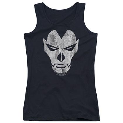 Shadowman Face Black Juniors Tank Top