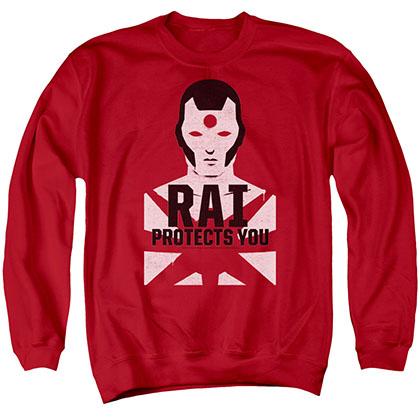 Rai Protector Red Crew Neck Sweatshirt