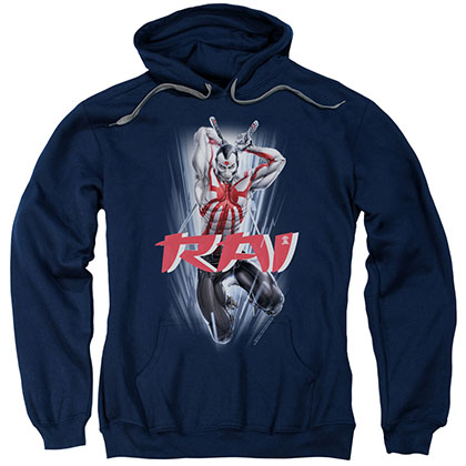 Rai Leap And Slice Blue Pullover Hoodie