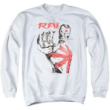 Rai Sword Drawn White Crew Neck Sweatshirt