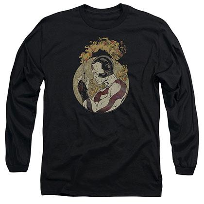 Rai Japanese Print Black Long Sleeve T-Shirt
