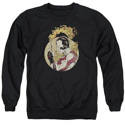 Rai Japanese Print Black Crew Neck Sweatshirt