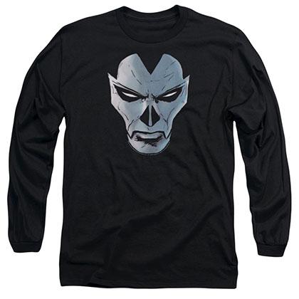 Shadowman Comic Face Black Long Sleeve T-Shirt