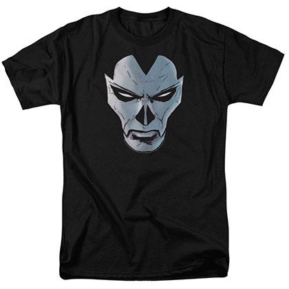 Shadowman Comic Face Black T-Shirt
