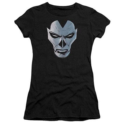 Shadowman Comic Face Black Juniors T-Shirt