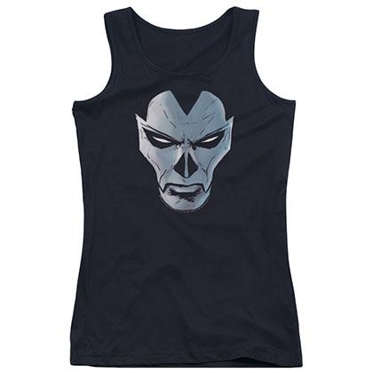 Shadowman Comic Face Black Juniors Tank Top