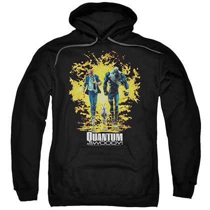 Quantum And Woody Explosion Black Pullover Hoodie