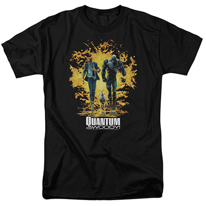 Quantum And Woody Explosion Black T-Shirt