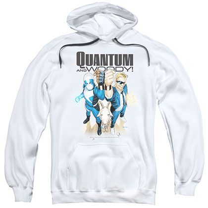 Quantum And Woody Quantum And Woody White Pullover Hoodie