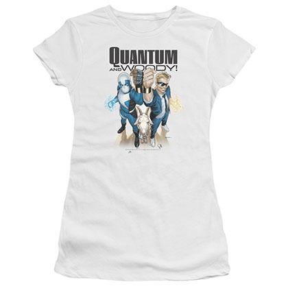 Quantum And Woody Quantum And Woody White Juniors T-Shirt