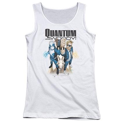 Quantum And Woody Quantum And Woody White Juniors Tank Top